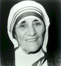 a quote by Mother Teresa
