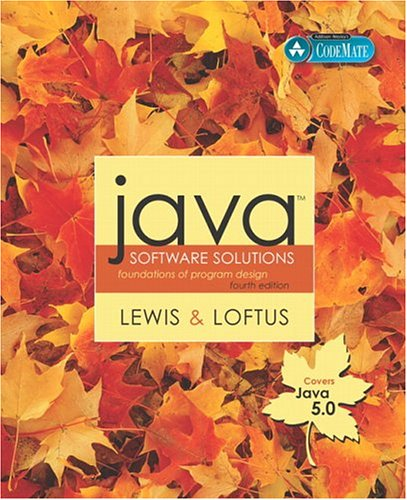 Java Software Solutions (Java 5.0 version) by John   Lewis
