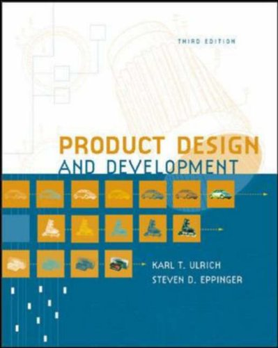 Product design and development by karl t ulrich reviews for Product design and development