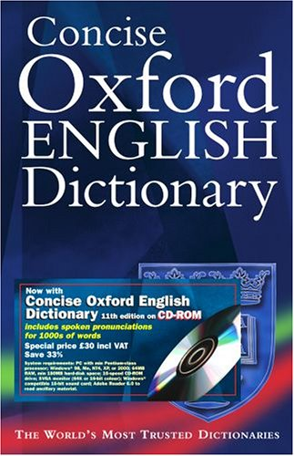 Concise Oxford English Dictionary [With CDROM]