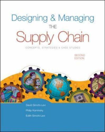 designing and managing the supply chain simchi levi Designing and managing the supply chain: concepts, strategies, and case studies, by david simchi-levi, philip kaminsky, and edith simchi-levi irwin mcgraw-hill 2000 pp 321 isbn 0-07-028594-2.