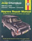 Jeep Cherokee &Amp; Comanche Automotive Repair Manual