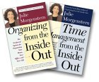 Julie Morgenstern Organizing From The Inside Out Two Book Set (Organizing From The Inside Out, Time Management From The Inside Out)