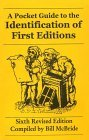 Pocket Guide to the Identification of First Editions