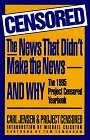 Censored: The News That Didn't Make the News--And Why: The 1995 Project Censored Yearbook