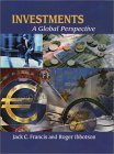 Investments: A Global Perspective Plus Ibottson Associates Software Workbook and CD-ROM