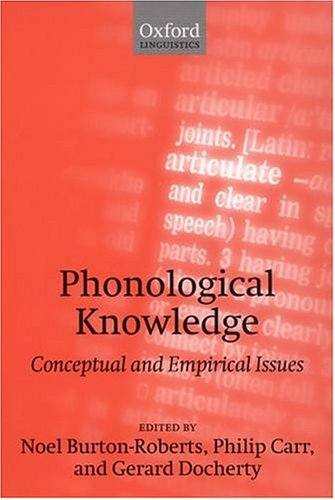 Phonological Knowledge by Mary Beckman