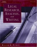 Legal Research, Analysis, and Writing by William H. Putman