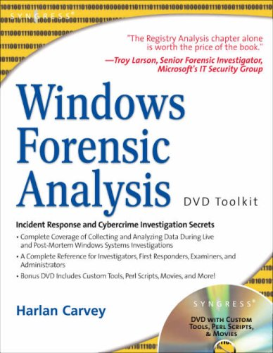 Windows Forensic Analysis DVD Toolkit With DVD