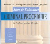 Sum & Substance Audio On Criminal Procedure, (Cd) (Sum & Substance)