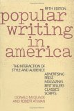 Popular Writing in America: The Interaction of Style and Audience