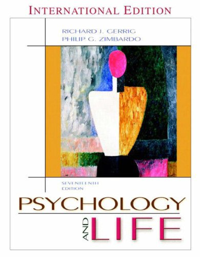 Psychology and Life by Richard J. Gerrig
