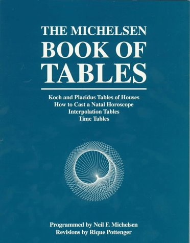 The Michelsen Book Of Tables: Koch And Placidus Tables Of Houses How To Cast A Natal Horoscope Interpolation Tables Time Tables