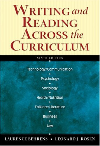 Download Writing and Reading Across the Curriculum (13th Edition) Free Books