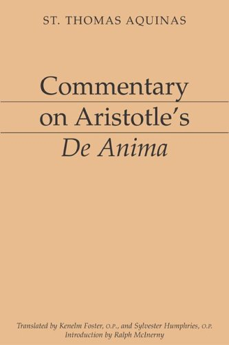 Commentary on Aristotle's De Anima by Thomas Aquinas