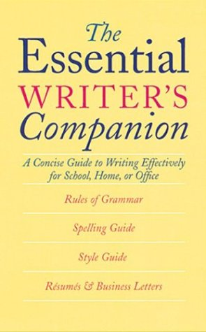 The Essential Writer's Companion by American Heritage Dictionary