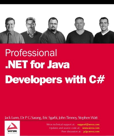 Professional .Net For Java Developers Using C#
