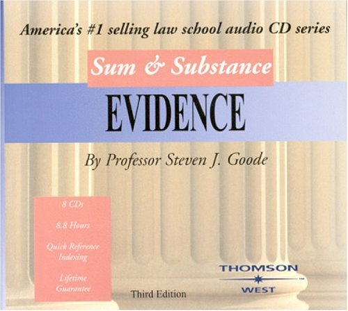 Sum & Substance: Evidence (Sum & Substance Cd)