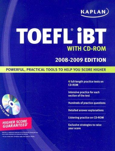 Kaplan TOEFL IBT 2008-2009 Book With Audio-CD by Kaplan Inc.