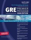 Kaplan GRE Exam 2008 Premier Program (W/ CD-ROM)