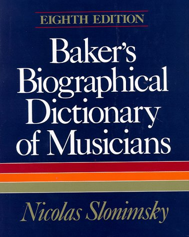 Amazon.com: bakers biographical dictionary of musicians