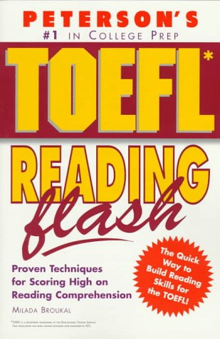Peterson's TOEFL Reading Flash by Milada Broukal