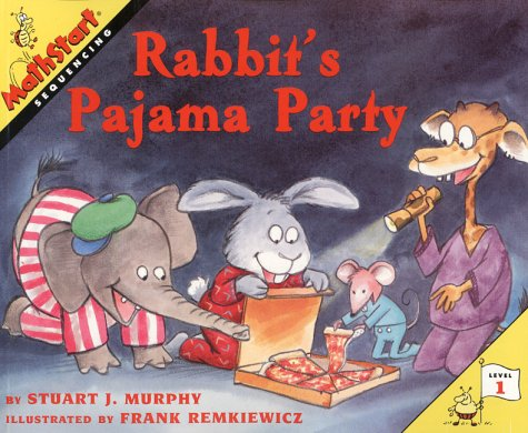 Rabbit's Pajama Party (Mathstart: Level 1 (HarperCollins Hardcover))
