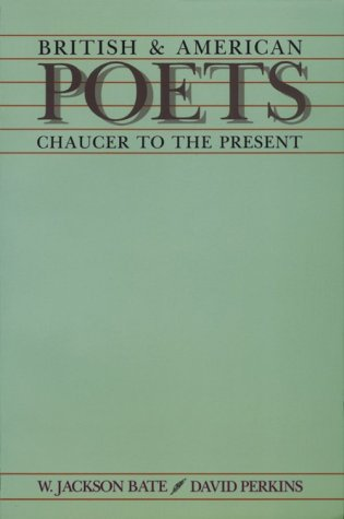 British and American Poets: Chaucer to the Present