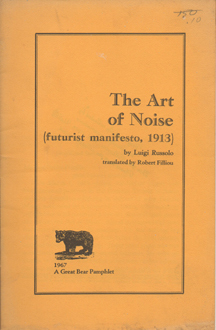 The Art of Noise futurist manifesto, 1913