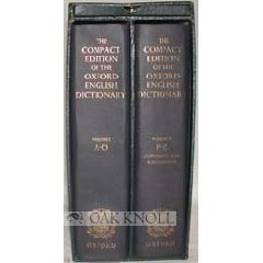 The Compact Edition of the Oxford English Dictionary, 2 Vols ... by Herbert Coleridge