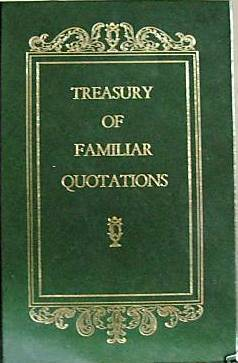 Treasury Of Familiar Quotations by Avenel Books