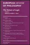 European Review of Philosophy, 4: The Nature of Logic