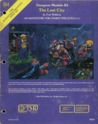 The Lost City (Dungeons and Dragons module B4)