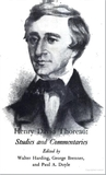 Henry David Thoreau Studies: Studies and Commentaries