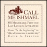 Call Me Ishmael by David A. Spector
