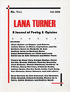Lana Turner: A Journal of Poetry and Opinion (No. 1)