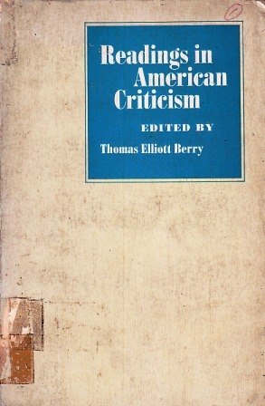 Readings in American Criticism