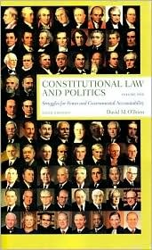 Constitutional Law and Politics, Volume 1