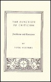 The Function of Criticism by Yvor Winters