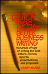 Quick Tips for Better Business Writing