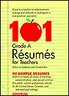 101 Grade A Résumés For Teachers
