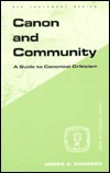 Canon and Community Paper by James A. Sanders