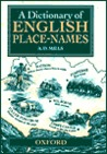 A Dictionary of English Place Names