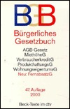 Burgerliches Gesetzbuch: Mit Einfuhrungsgesetz, Beurkundungsgesetz, Agb-Gesetz, Verbraucherkreditgesetz, Gesetz Uber Den Widerruf Von Hausturge