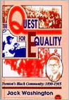 The Quest for Equality: Trenton's Black Community, 1890-1965
