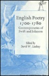 English Poetry, 1700-80: Contemporaries of Swift and Johnson