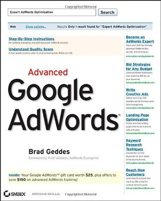 Advanced Google AdWords by Brad Geddes