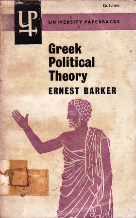 Greek Political Theory by Ernest Barker