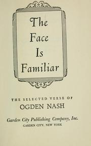 The Face is Familiar: The Selected Poems