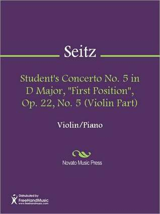 """Student's Concerto No. 5 in D Major, """"First Position"""", Op. 22, No. 5 (Violin Part)"""